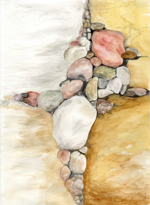 Watercolor Fun with Rocks 3