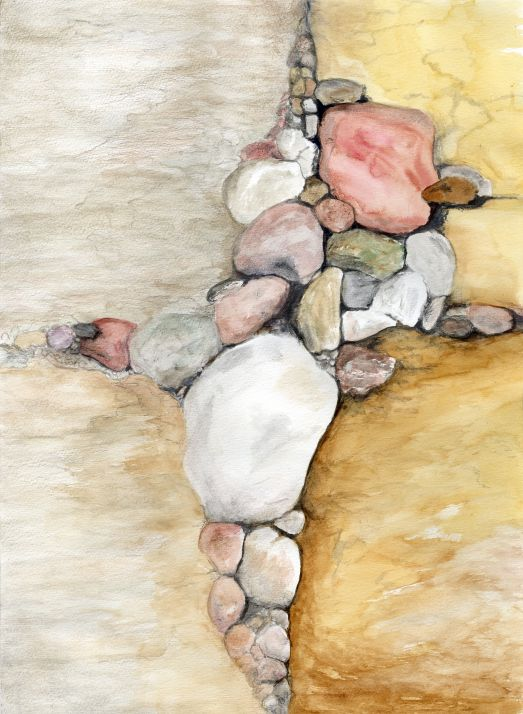 Watercolor Work with Rocks