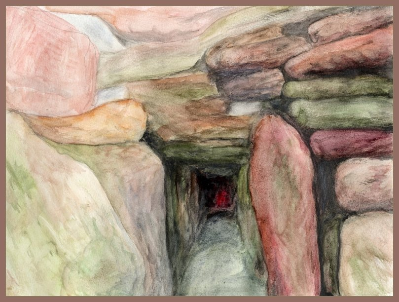 Watercolor Rocks III, draft 1
