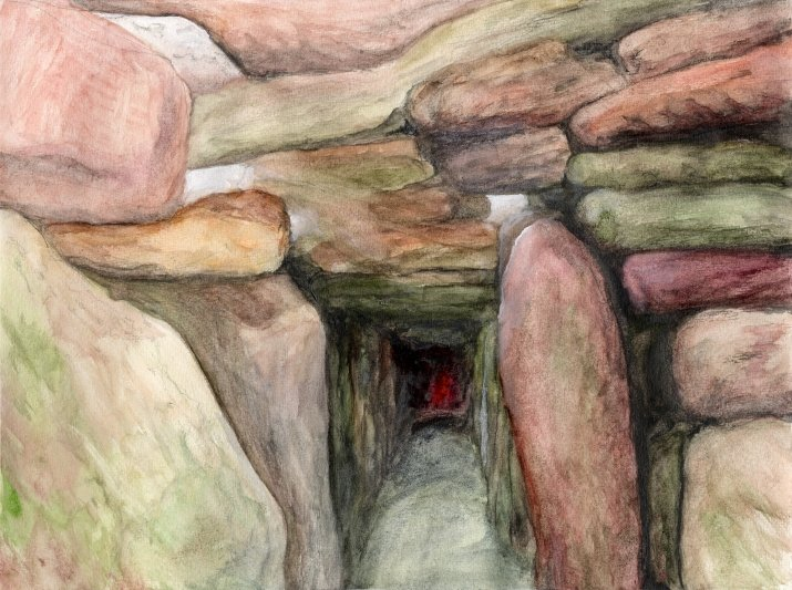 Watercolor Rocks III: the Cave, draft 2