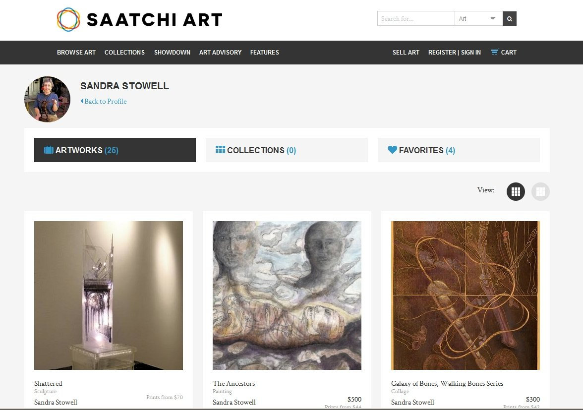 My page at Saatchi online